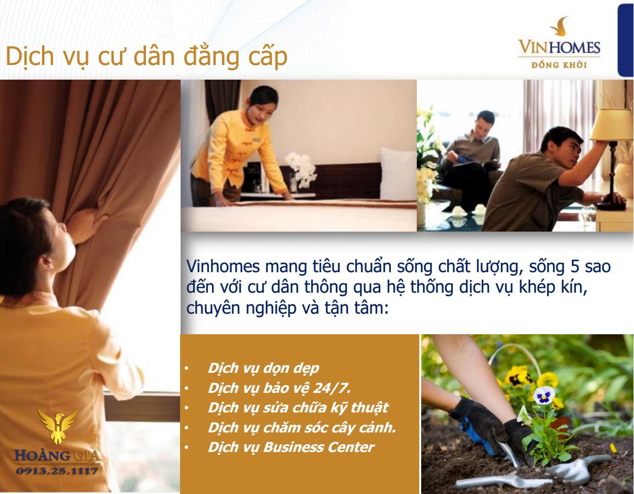 Dịch vụ cao cấp Vinhomes Đồng Khởi