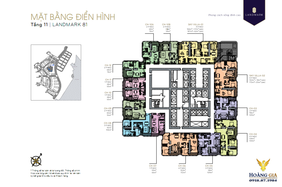 Mặt bằng tầng 11 Vinhomes Central Park