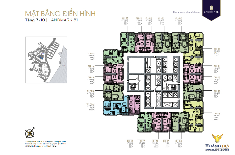 Mặt bằng tầng 7 - 10 Vinhomes-Central-Park