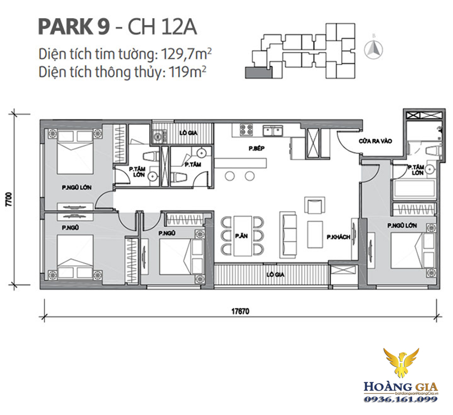 Căn hộ số 12A Park Hill Premium