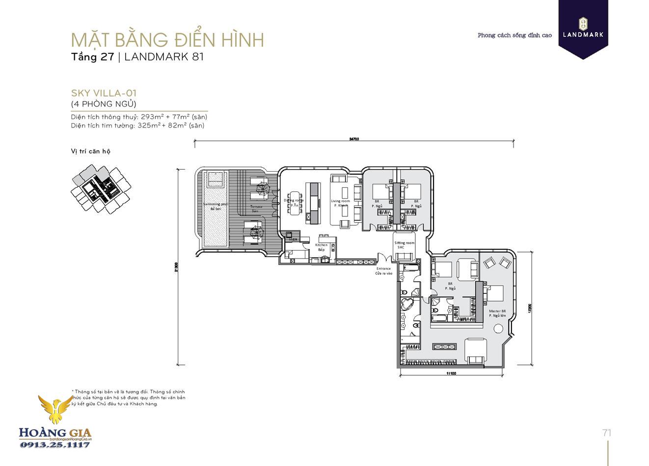 Căn hộ ksy villa 01 Vinhomes Central Park