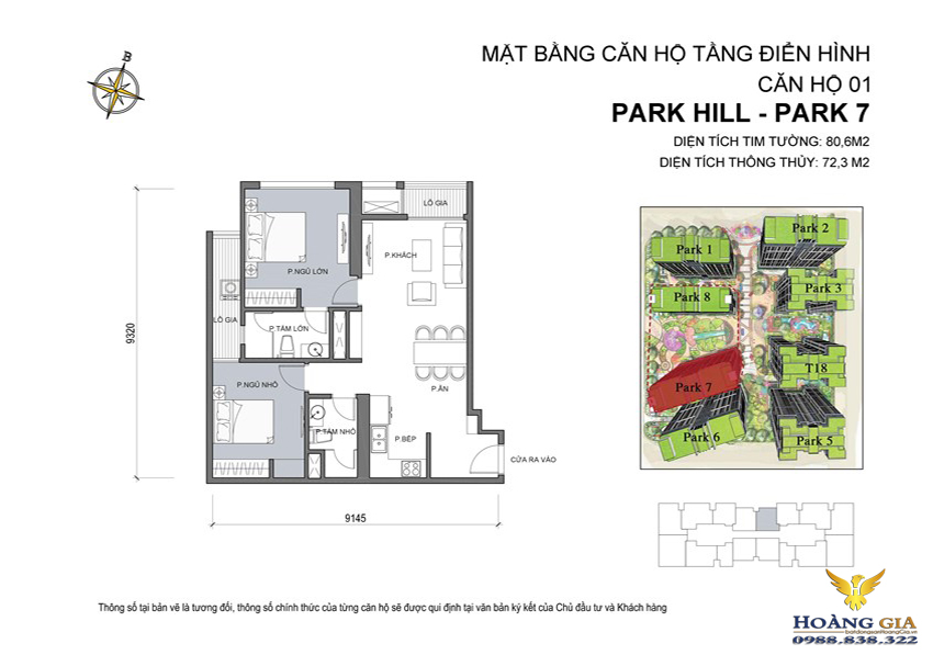 Căn hộ số  01 Vinhomes Times City – Park Hill