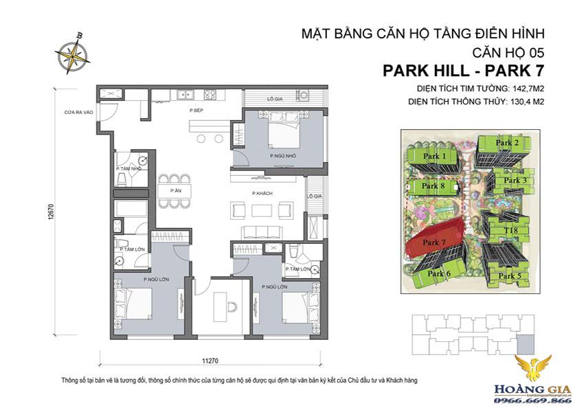 Căn hộ số 05 Vinhomes Times City – Park Hill