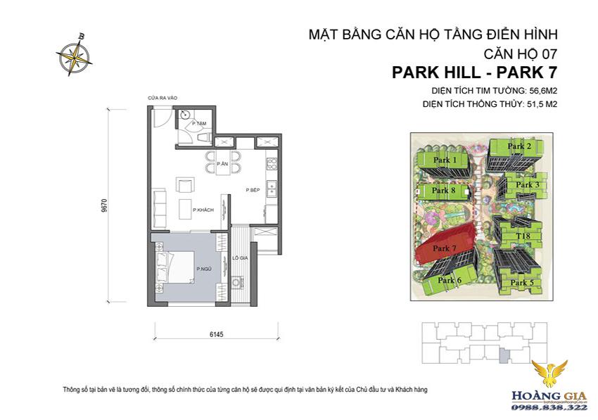 Căn hộ số 07 Vinhomes Times City – Park Hill