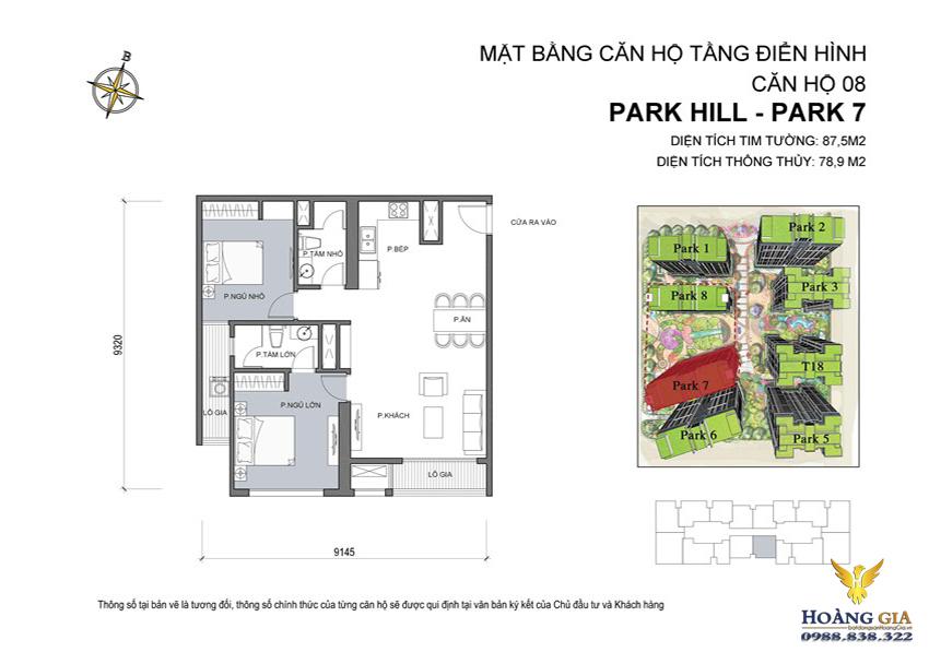 Căn hộ số 08 Vinhomes Times City – Park Hill