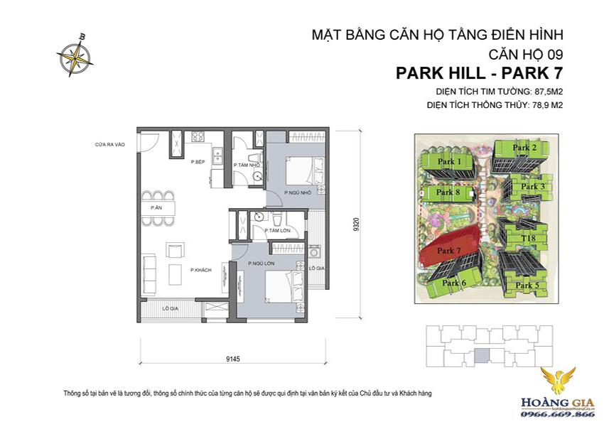 Căn hộ số 09 Vinhomes Times City – Park Hill