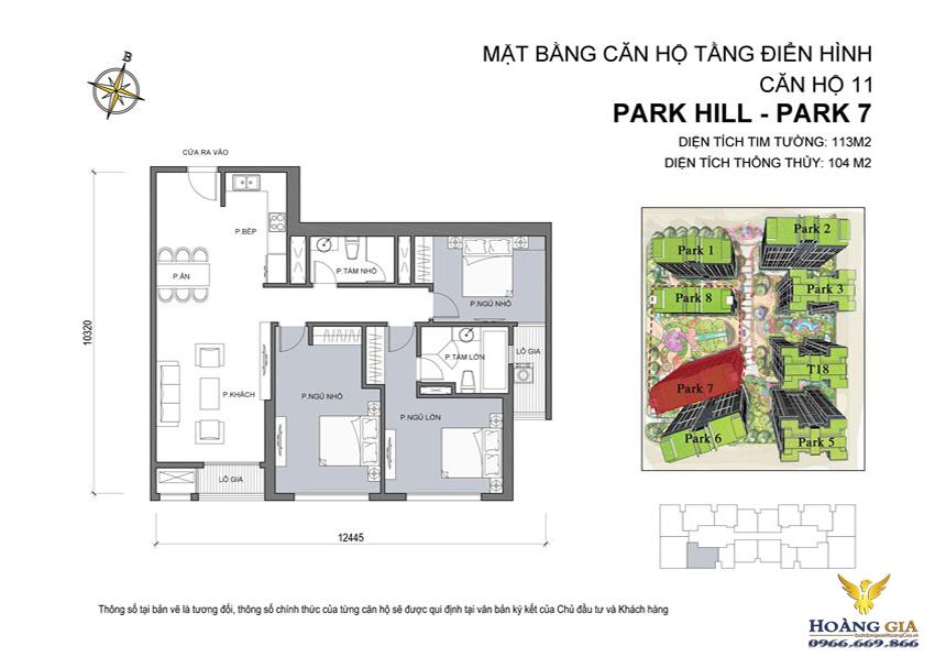 Căn hộ số 11 Vinhomes Times City – Park Hill