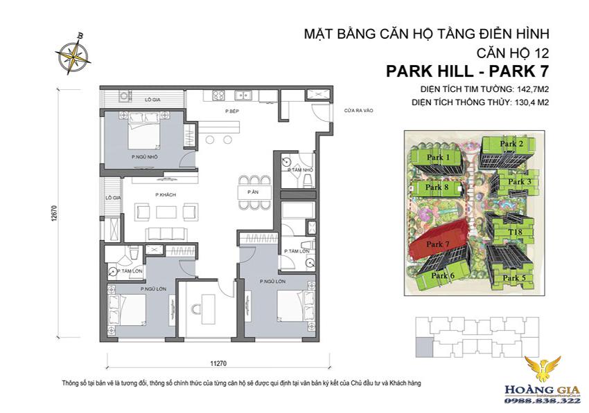 Căn hộ số 12 Vinhomes Times City – Park Hill
