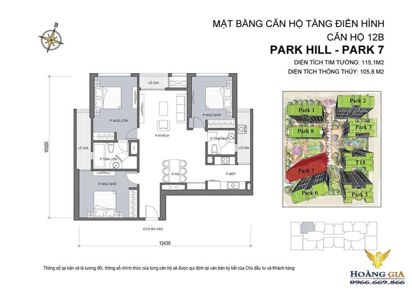 Căn hộ số 12B Vinhomes Times City – Park Hill