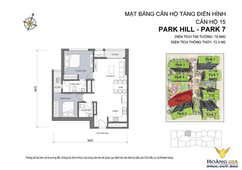 Căn hộ số 15 Vinhomes Times City – Park Hill