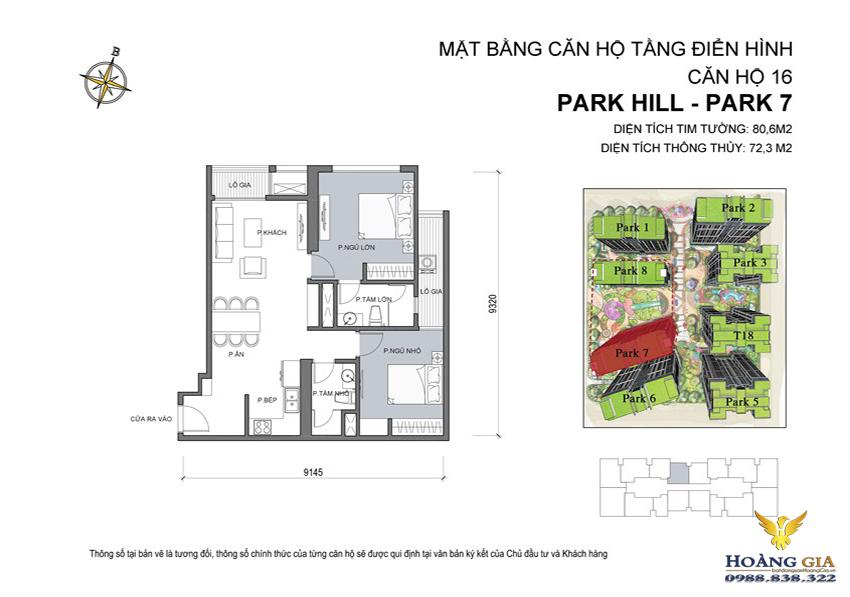 Căn hộ số 16 Vinhomes Times City – Park Hill