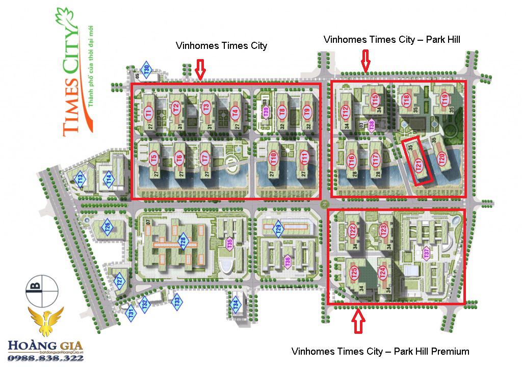 Mặt bằng tổng thể Vinhomes Times City – Park Hill