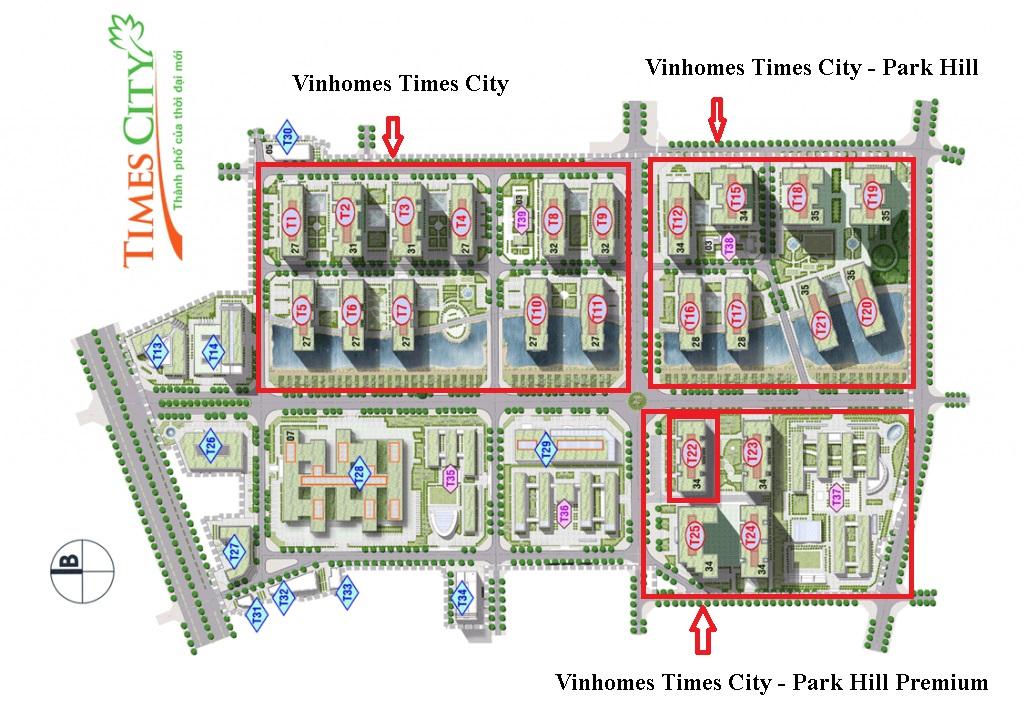 Mặt bằng Park 10 Vinhomes Times City - Park Hill