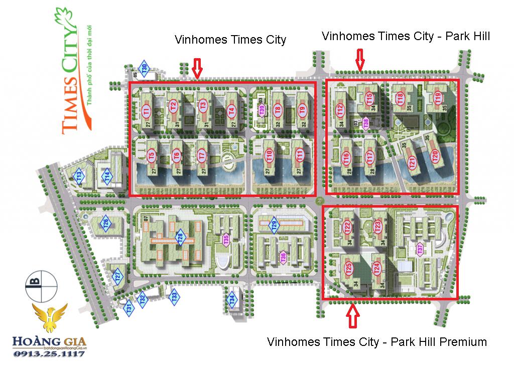 Quy mô Vinhomes Times City