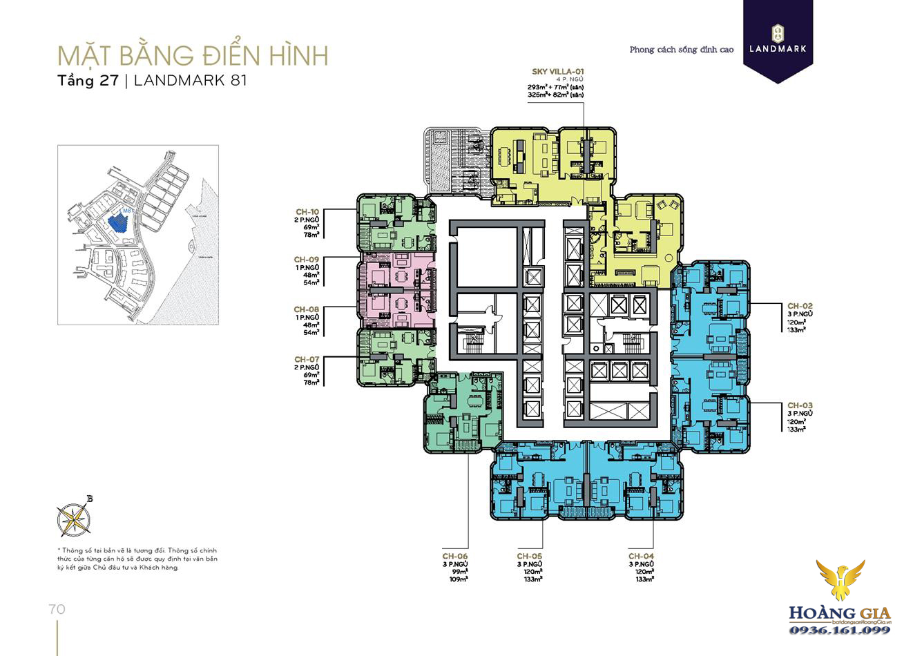 Mặt bằng tầng 27 Vinhomes Central Park