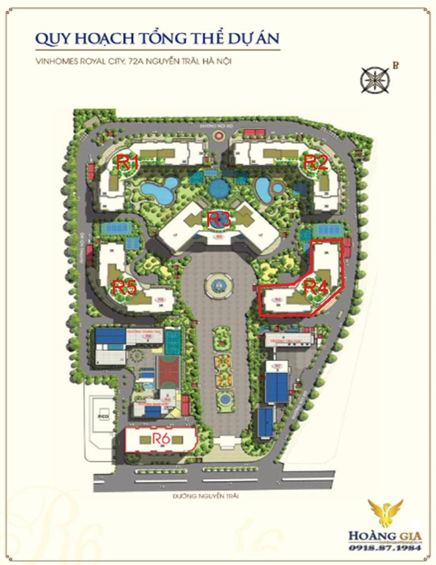 Mặt bằng tổng thể R4 Vinhomes Royal City