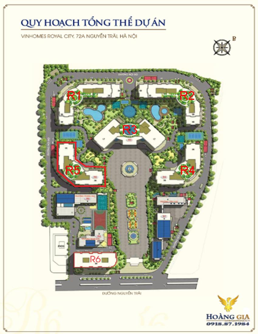 Mặt bằng tổng thể Vinhomes Royal City