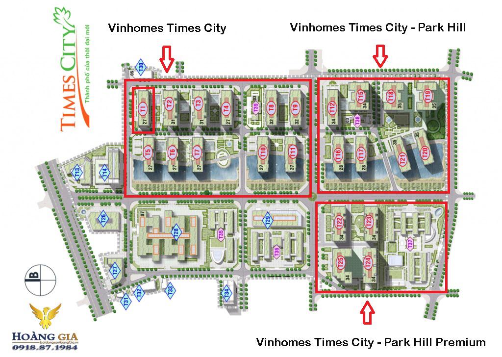 Mặt bằng tổng thể Vinhomes Times City