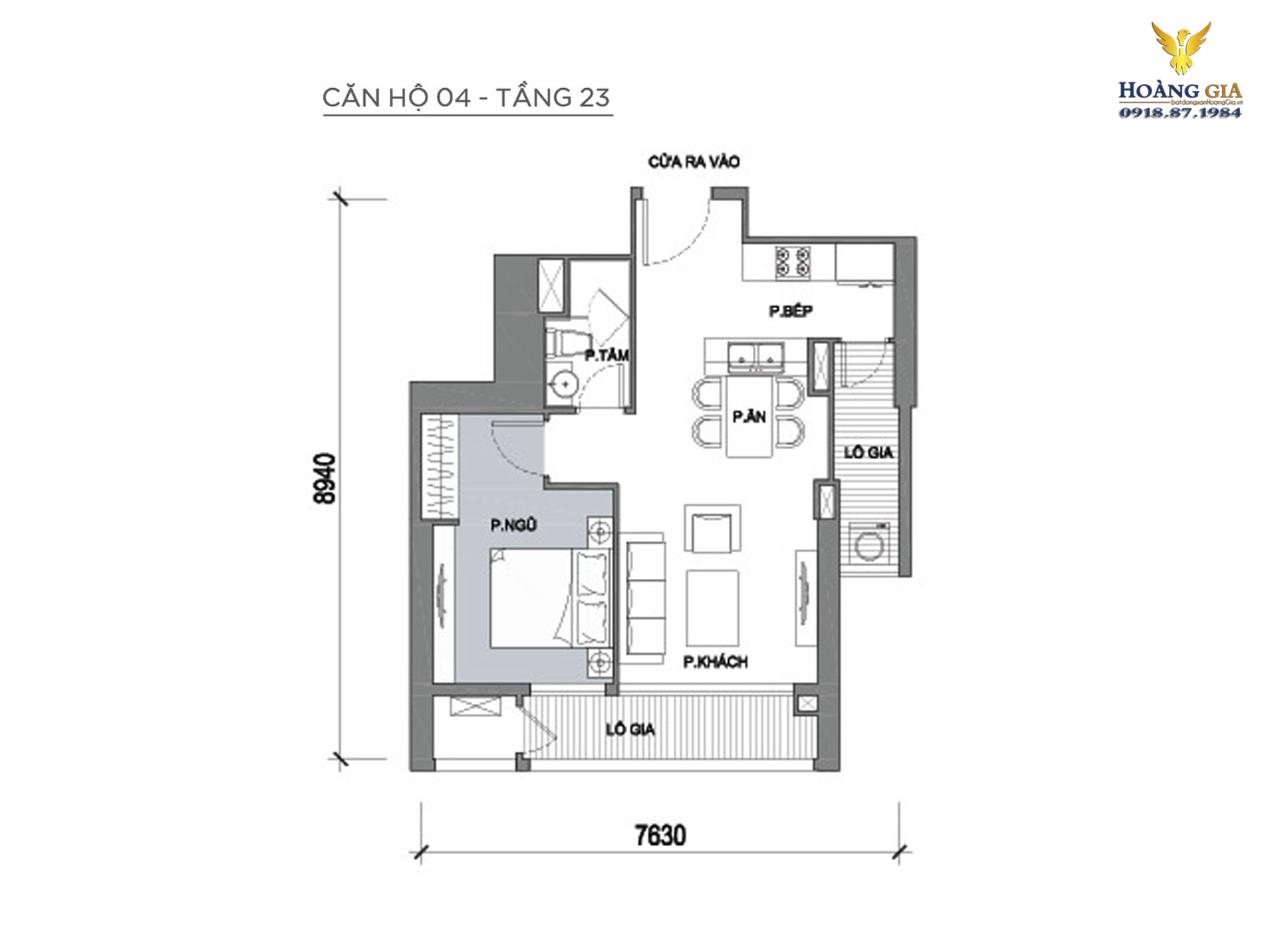 Căn hộ số 04 tầng 23 Vinhomes Central Park
