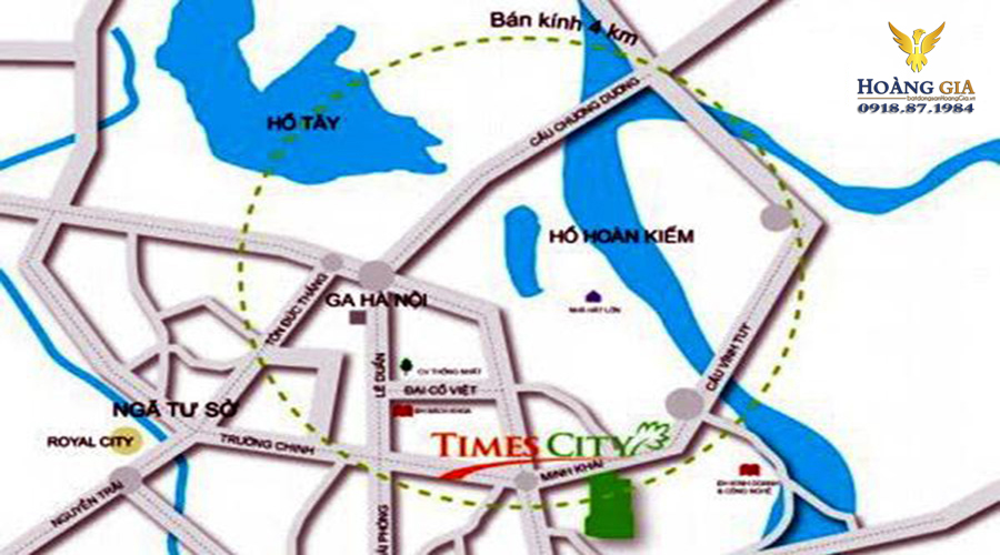 Vị trí Vinhomes Times City