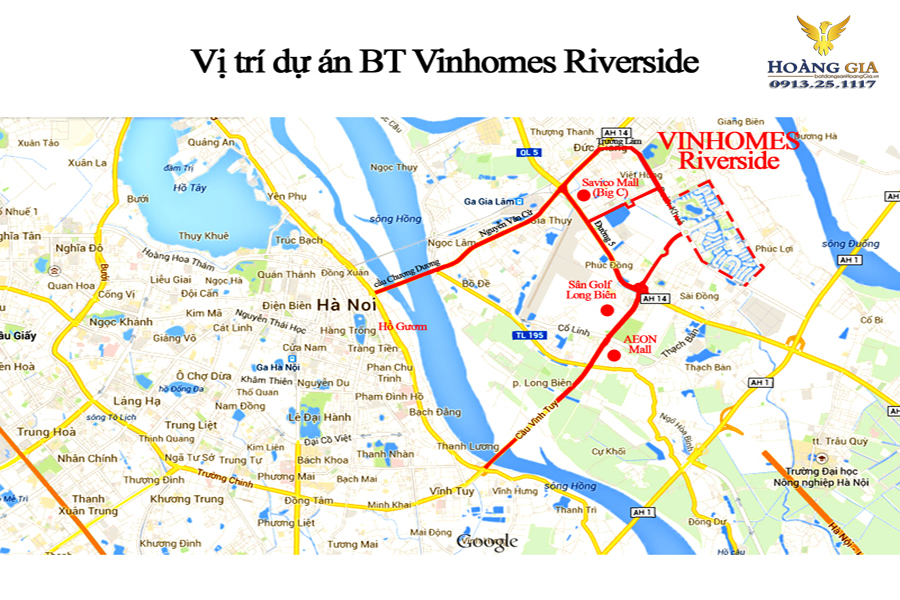 Vị trí Vinhomes Riverside