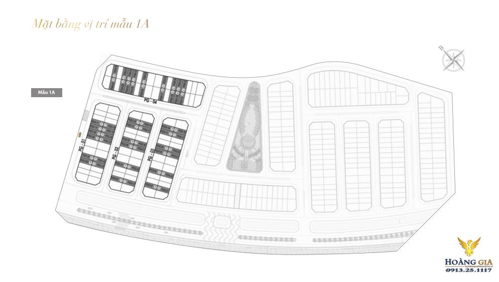 Mặt bằng vị trí mẫu 1A Vinhomes Dragon Bay