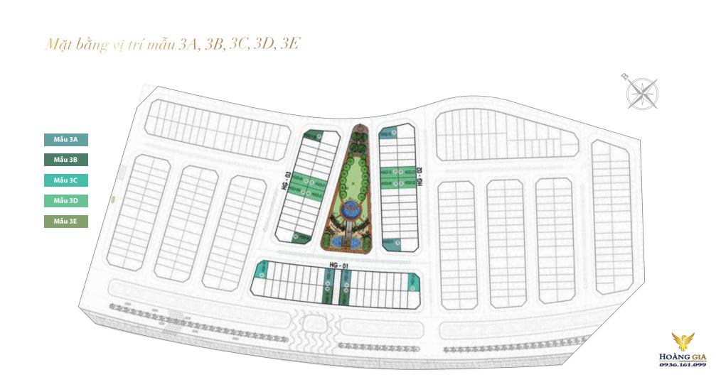 Mẫu vị trí 3A, 3B, 3C, 3D Khu Hoàng Gia Vinhomes Dragon Bay