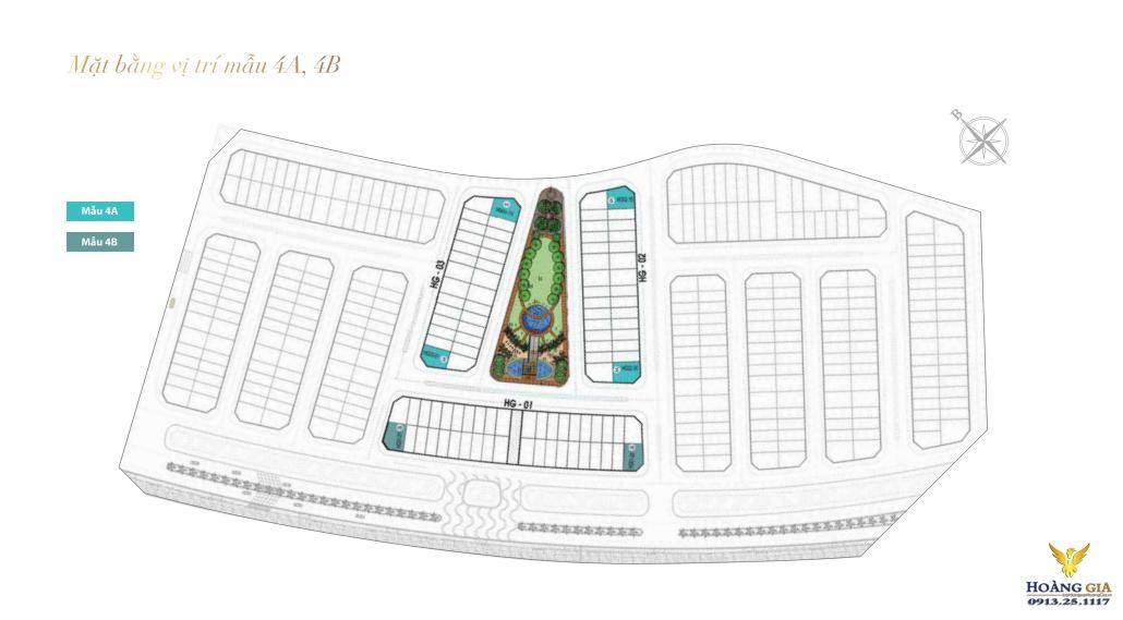 Mẫu vị trí 4A và 4B Mặt bằng mẫu 1C Khu Hoàng Gia Vinhomes Dragon Bay